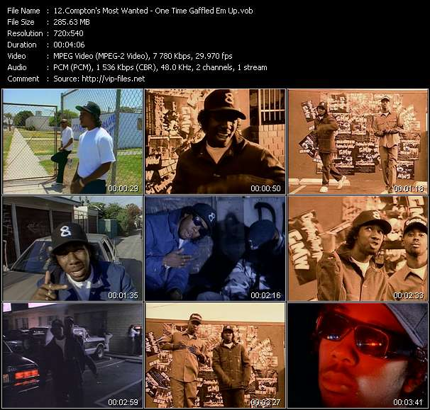 Compton's Most Wanted HQ Videoclip «One Time Gaffled Em Up»