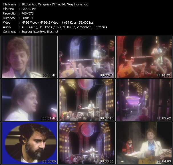 Jon And Vangelis video - I'll Find My Way Home