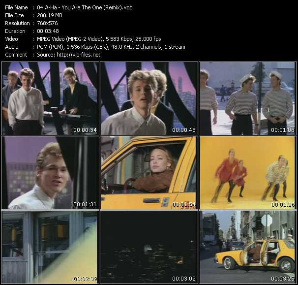 A-Ha video - You Are The One (Remix)