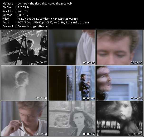 A-Ha video - The Blood That Moves The Body