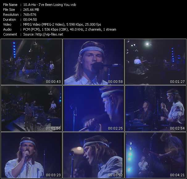 A-Ha video - I've Been Losing You
