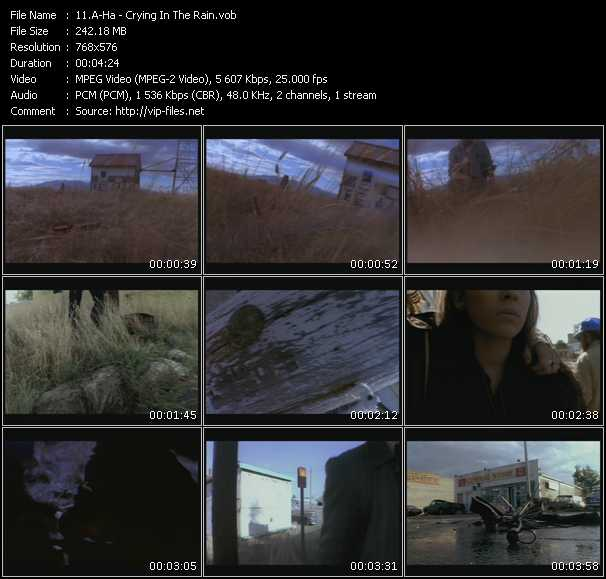A-Ha video - Crying In The Rain
