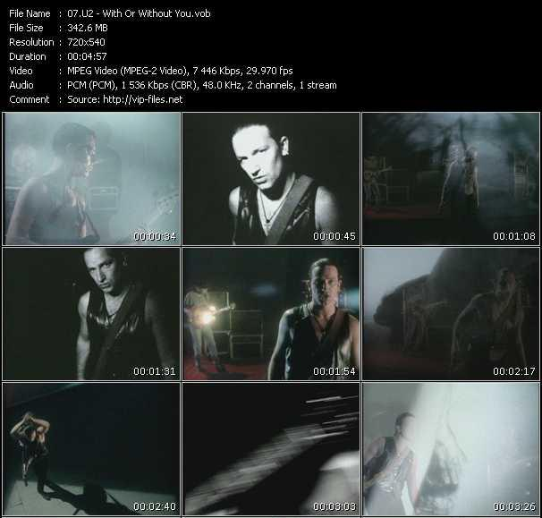 U2 video - With Or Without You