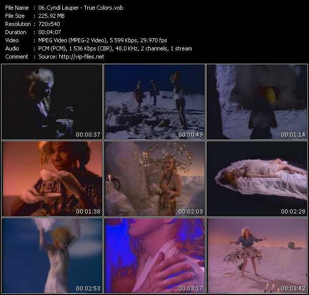 Cyndi Lauper video - True Colors