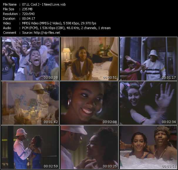 LL Cool J video - I Need Love