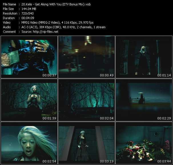 Kelis video - Get Along With You (ETV Bonus Mix)