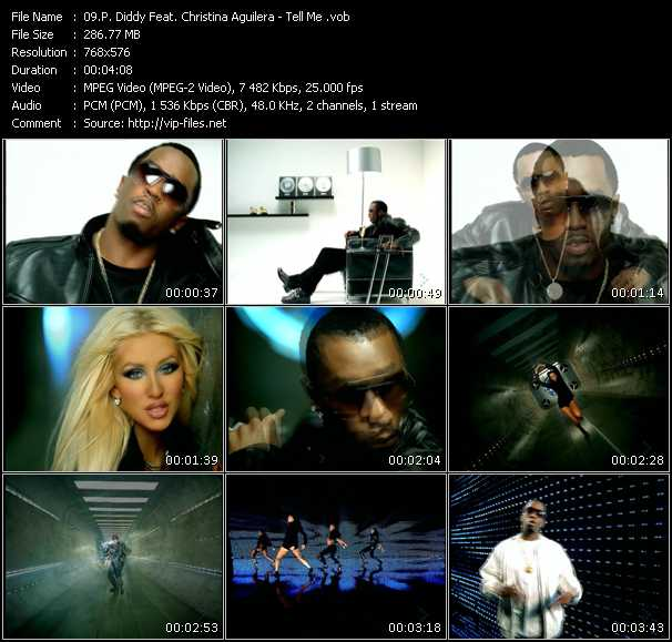 P. Diddy (Puff Daddy) Feat. Christina Aguilera music video Publish2