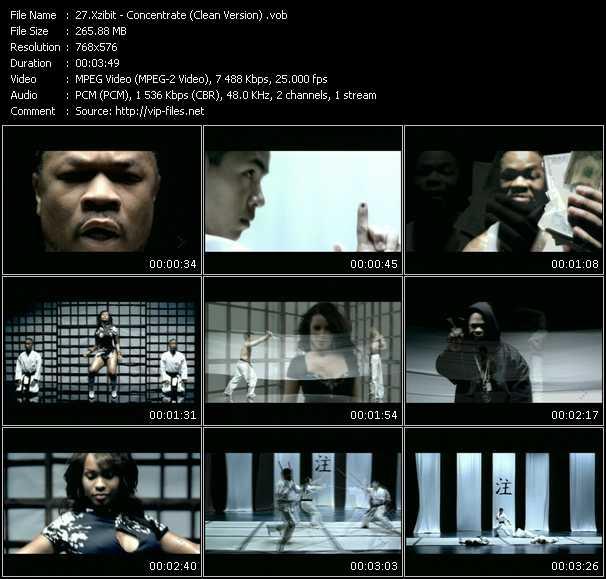 Xzibit video - Concentrate (Clean Version)