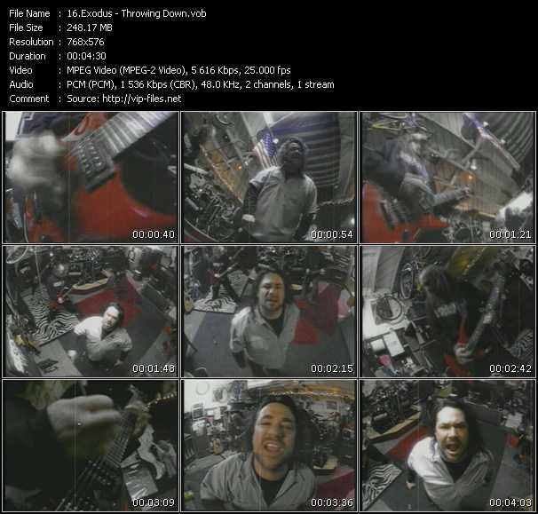 Exodus video - Throwing Down