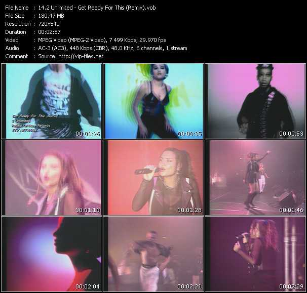 2 Unlimited video - Get Ready For This (Remix)