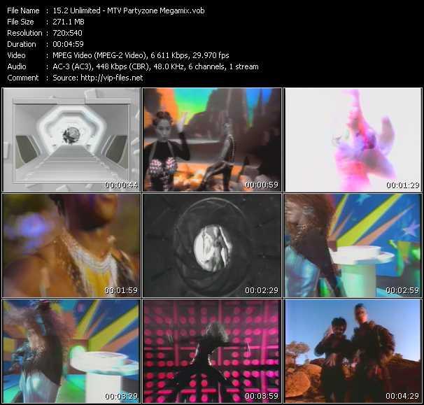 2 Unlimited video - MTV Partyzone Megamix