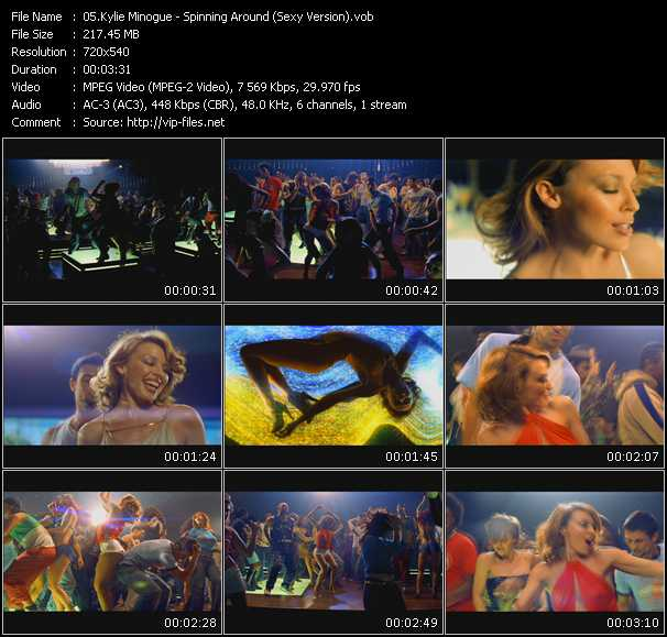 Kylie Minogue video - Spinning Around (Sexy Version)