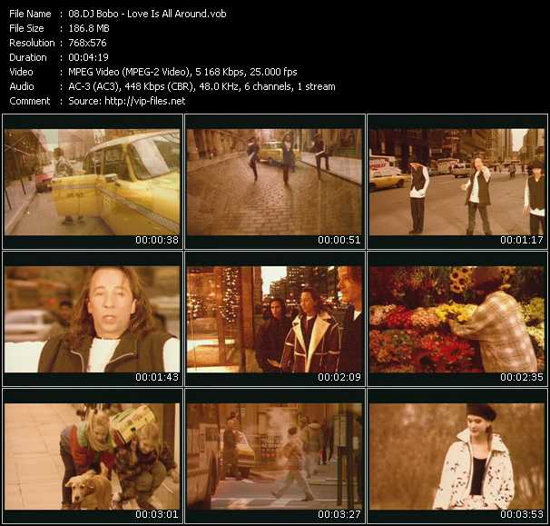 Dj Bobo video - Love Is All Around