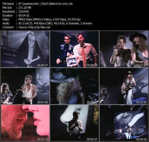 Queensryche video - I Don't Believe In Love
