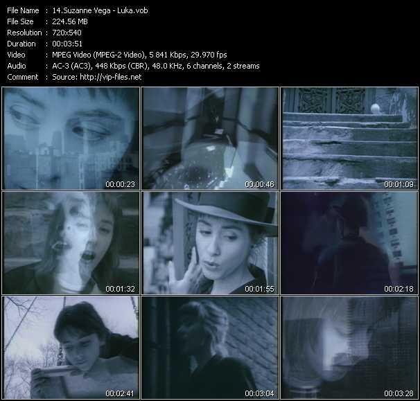 Suzanne Vega video - Luka