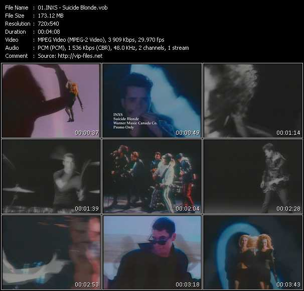Inxs video - Suicide Blonde