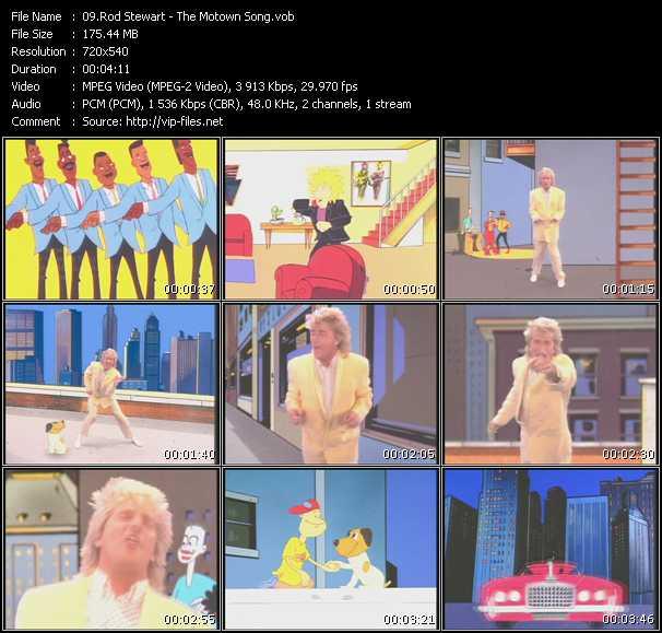 Rod Stewart video - The Motown Song