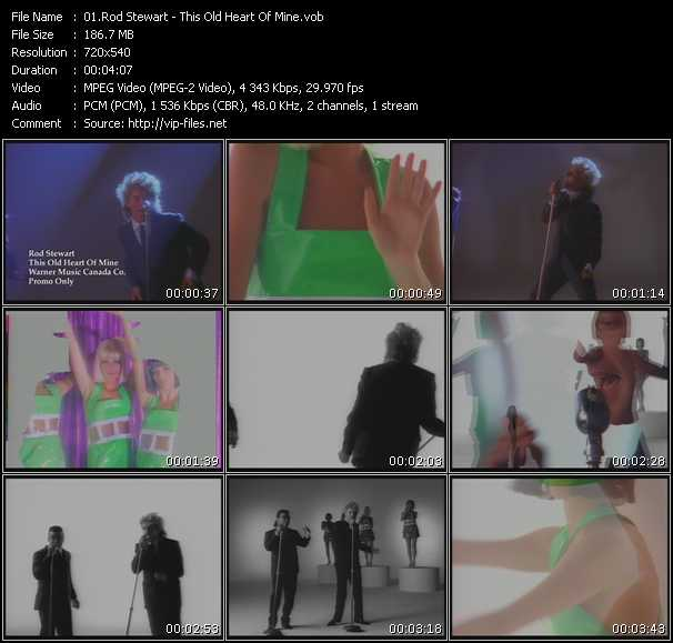 Rod Stewart With Ronald Isley video - This Old Heart Of Mine