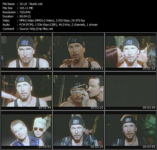 U2 video - Numb