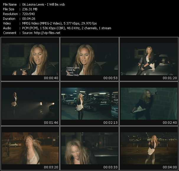Leona Lewis video - I Will Be