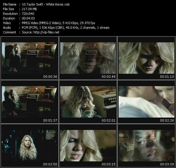Taylor Swift video - White Horse