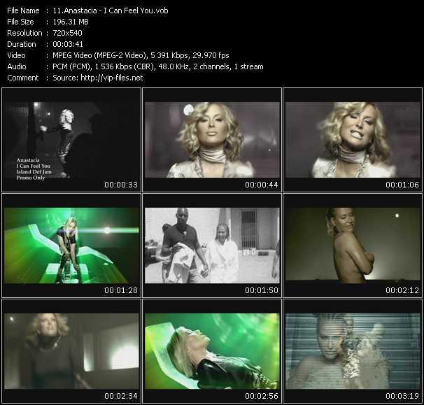Anastacia video - I Can Feel You