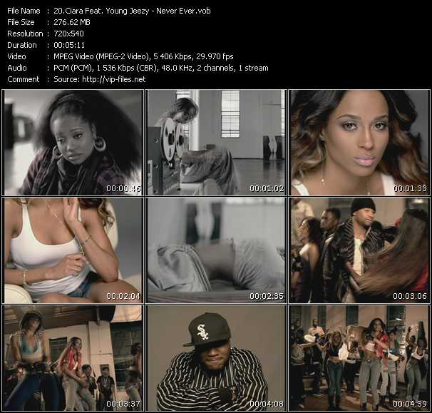 Ciara Feat. Young Jeezy video - Never Ever