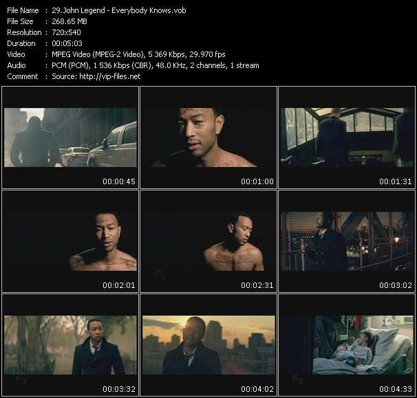 John Legend video - Everybody Knows