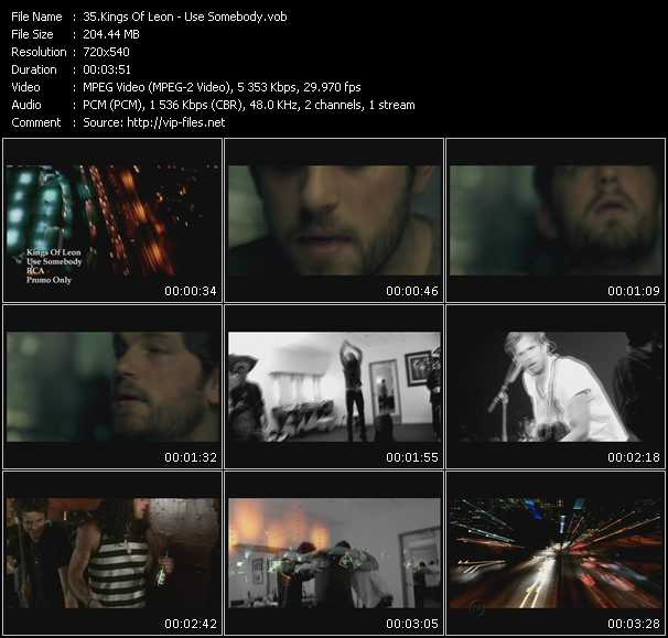 Kings Of Leon video - Use Somebody