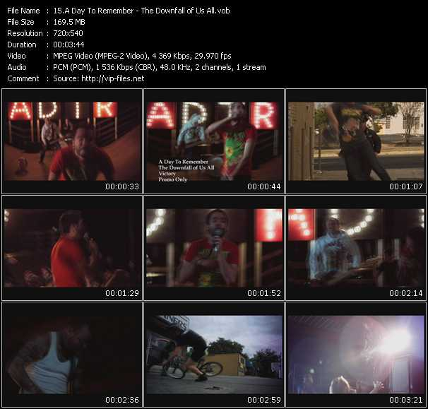 A Day To Remember video - The Downfall of Us All
