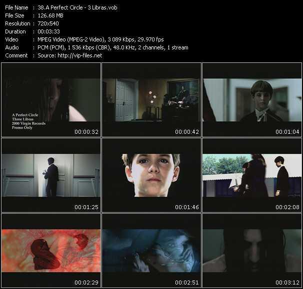 A Perfect Circle video - 3 Libras