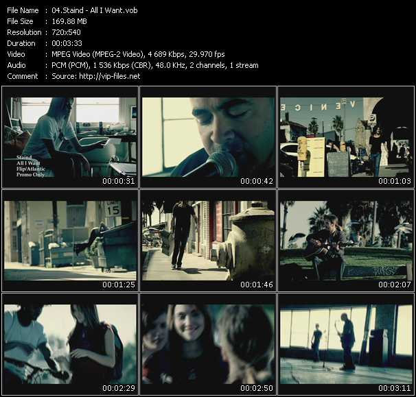 Staind video - All I Want