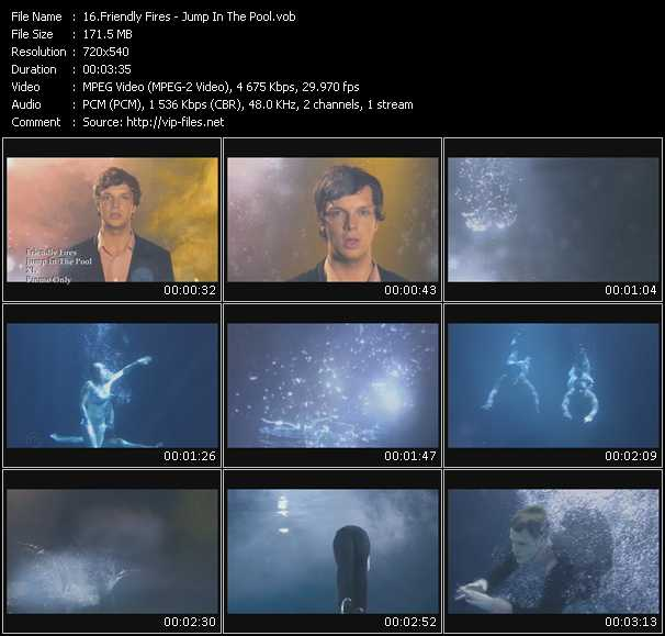 Friendly Fires video - Jump In The Pool