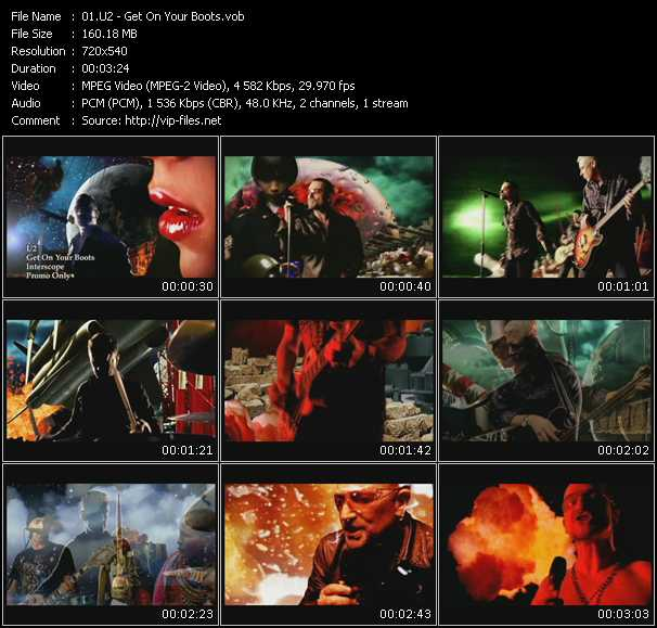 U2 video - Get On Your Boots