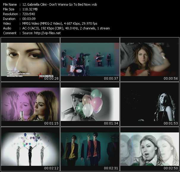 Gabriella Cilmi video - Don't Wanna Go To Bed Now