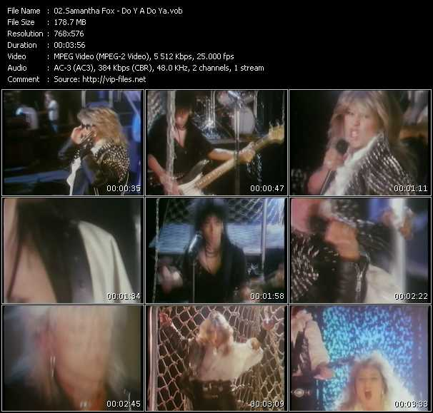 Samantha Fox video - Do Y A Do Ya