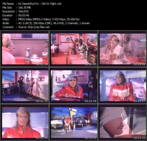 Samantha Fox video - Old On Tight