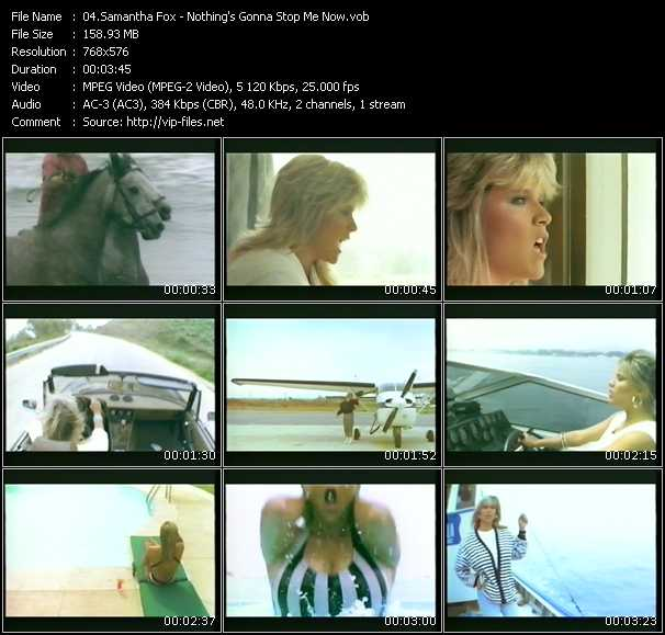 Samantha Fox video - Nothing's Gonna Stop Me Now