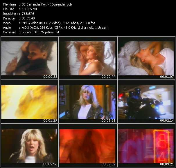 Samantha Fox video - I Surrender
