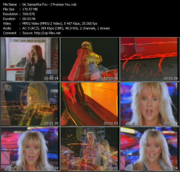 Samantha Fox video - I Promise You