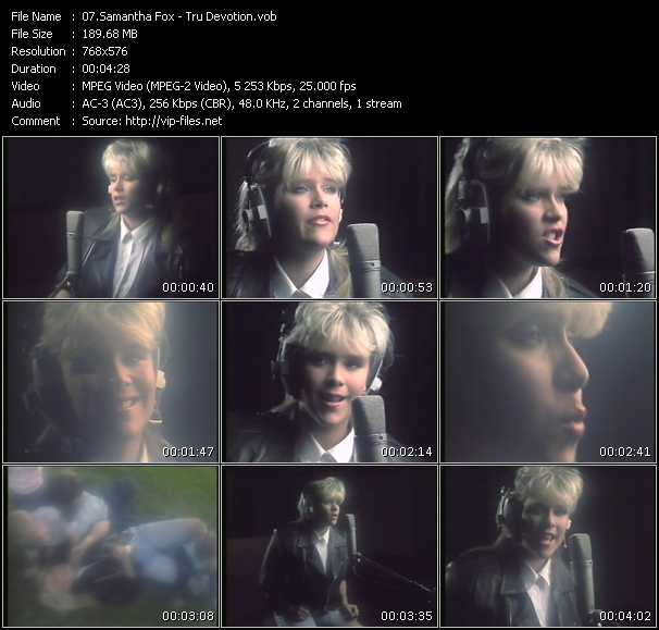 Samantha Fox video - Tru Devotion