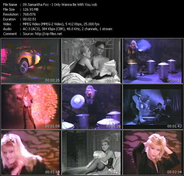 Samantha Fox video - I Only Wanna Be With You