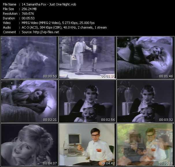 Samantha Fox video - Just One Night