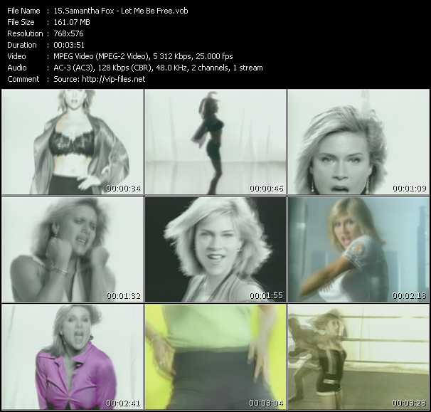 Samantha Fox video - Let Me Be Free