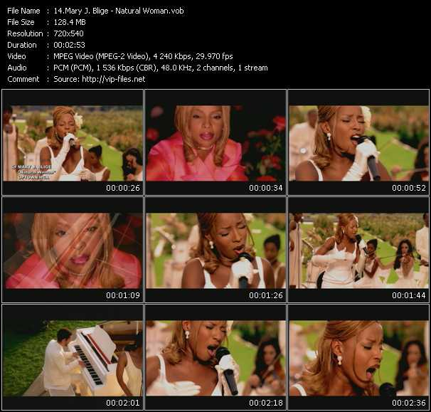 Mary J. Blige video - Natural Woman