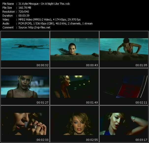 Kylie Minogue video - On A Night Like This