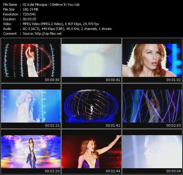 Kylie Minogue video - I Believe In You