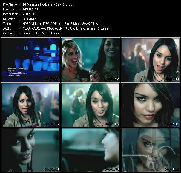 Vanessa Hudgens video - Say Ok