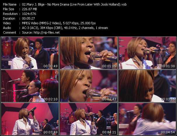 Mary J. Blige video - No More Drama (Live From Later With Jools Holland)