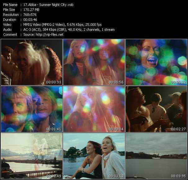 Abba video - Summer Night City
